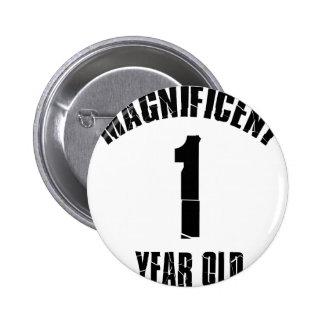 TRENDING 1 YEAR OLD BIRTHDAY DESIGNS 2 INCH ROUND BUTTON