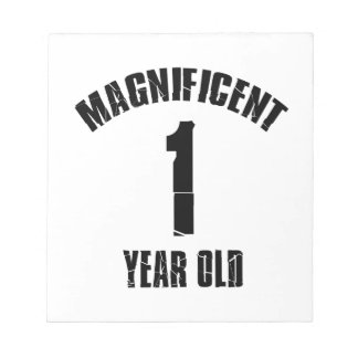TRENDING 1 YEAR OLD BIRTHDAY DESIGNS NOTEPADS
