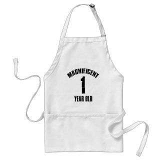 TRENDING 1 YEAR OLD BIRTHDAY DESIGNS STANDARD APRON