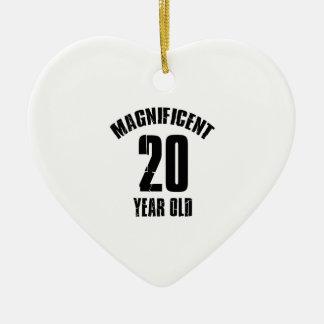 TRENDING 20 YEAR OLD BIRTHDAY DESIGNS CERAMIC HEART ORNAMENT
