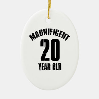 TRENDING 20 YEAR OLD BIRTHDAY DESIGNS CERAMIC ORNAMENT