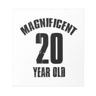 TRENDING 20 YEAR OLD BIRTHDAY DESIGNS NOTEPAD
