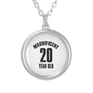 TRENDING 20 YEAR OLD BIRTHDAY DESIGNS SILVER PLATED NECKLACE