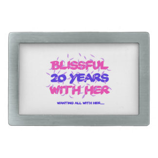 Trending 20th marriage anniversary designs belt buckles