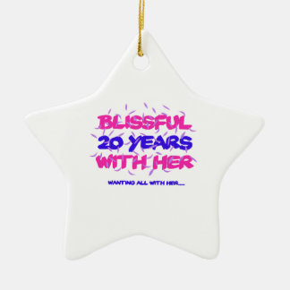Trending 20th marriage anniversary designs ceramic ornament