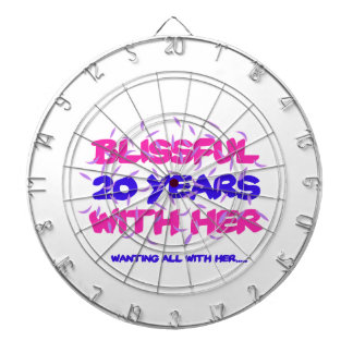 Trending 20TH marriage anniversary designs Dartboard