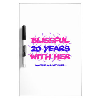 Trending 20TH marriage anniversary designs Dry Erase Board