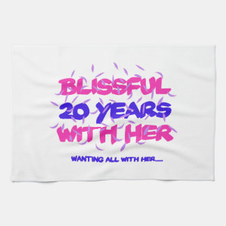 Trending 20th marriage anniversary designs kitchen towel