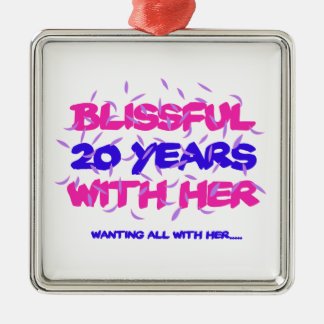 Trending 20TH marriage anniversary designs Metal Ornament