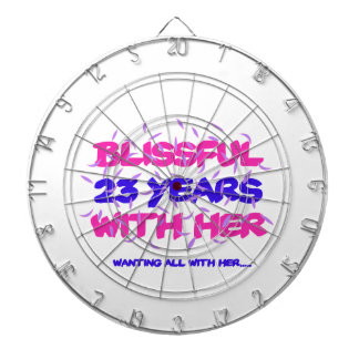 Trending 23rd marriage anniversary designs dartboard