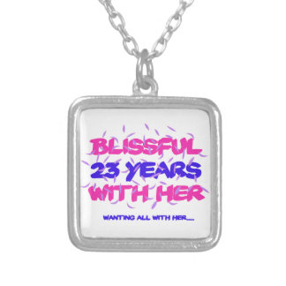 Trending 23rd marriage anniversary designs silver plated necklace