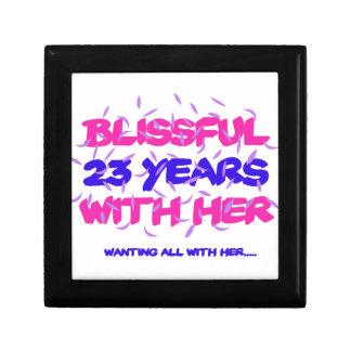 Trending 23rd marriage anniversary designs trinket box