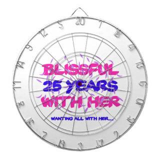 Trending 25th marriage anniversary designs dartboard