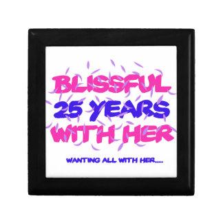 Trending 25th marriage anniversary designs keepsake box