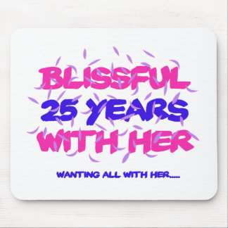 Trending 25th marriage anniversary designs mouse pad
