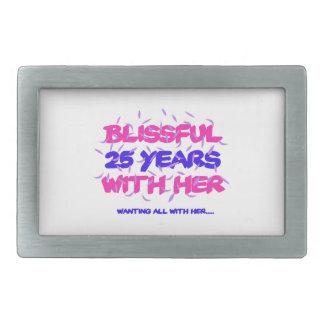 Trending 25th marriage anniversary designs rectangular belt buckles