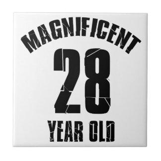 TRENDING 28 YEAR OLD BIRTHDAY DESIGNS CERAMIC TILE