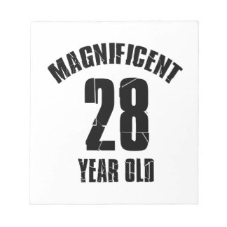 TRENDING 28 YEAR OLD BIRTHDAY DESIGNS NOTEPAD