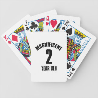TRENDING 2 YEAR OLD BIRTHDAY DESIGNS BICYCLE PLAYING CARDS