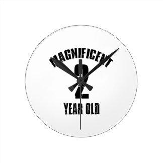 TRENDING 2 YEAR OLD BIRTHDAY DESIGNS ROUND CLOCK