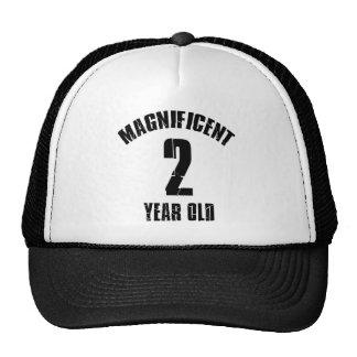 TRENDING 2 YEAR OLD BIRTHDAY DESIGNS TRUCKER HAT