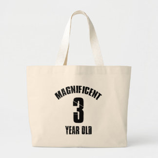 TRENDING 3 YEAR OLD BIRTHDAY DESIGNS LARGE TOTE BAG