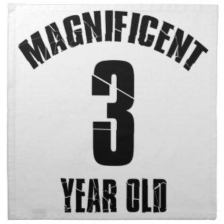 TRENDING 3 YEAR OLD BIRTHDAY DESIGNS NAPKIN