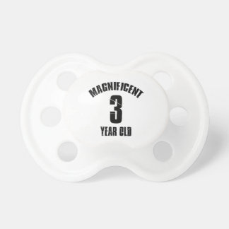 TRENDING 3 YEAR OLD BIRTHDAY DESIGNS PACIFIER