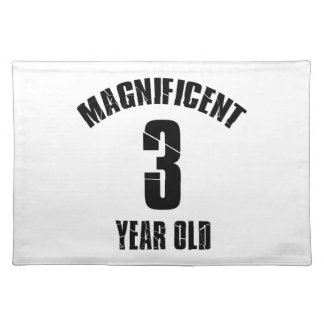 TRENDING 3 YEAR OLD BIRTHDAY DESIGNS PLACEMAT