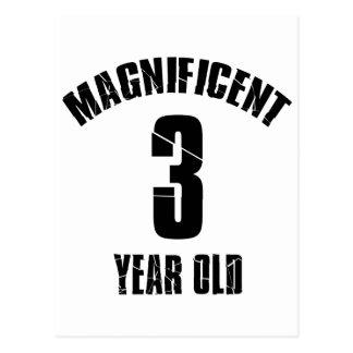 TRENDING 3 YEAR OLD BIRTHDAY DESIGNS POSTCARD