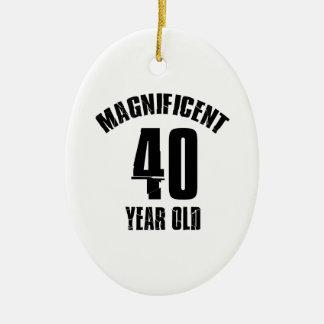 TRENDING 40 YEAR OLD BIRTHDAY DESIGNS CERAMIC ORNAMENT