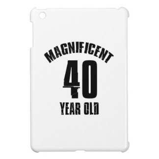 TRENDING 40 YEAR OLD BIRTHDAY DESIGNS COVER FOR THE iPad MINI