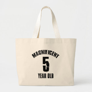TRENDING 5 YEAR OLD BIRTHDAY DESIGNS LARGE TOTE BAG