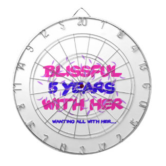 Trending 5th marriage anniversary designs dartboard