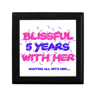 Trending 5th marriage anniversary designs gift box