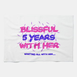 Trending 5th marriage anniversary designs kitchen towel