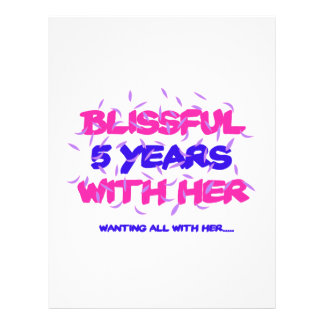 Trending 5th marriage anniversary designs letterhead
