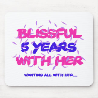 Trending 5th marriage anniversary designs mouse pad
