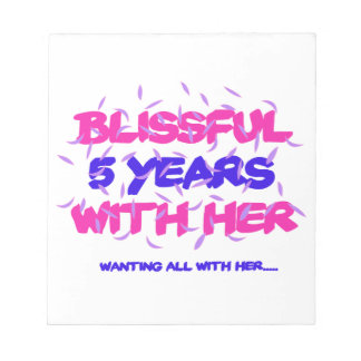 Trending 5th marriage anniversary designs notepad