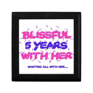 Trending 5th marriage anniversary designs trinket box