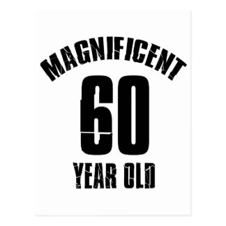 TRENDING 60 YEAR OLD BIRTHDAY DESIGNS POSTCARD