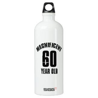 TRENDING 60 YEAR OLD BIRTHDAY DESIGNS WATER BOTTLE