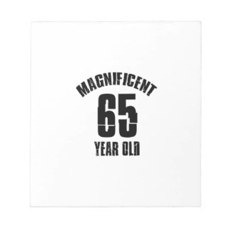 TRENDING 65 YEAR OLD BIRTHDAY DESIGNS NOTEPAD