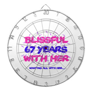 Trending 67TH marriage anniversary designs Dartboard
