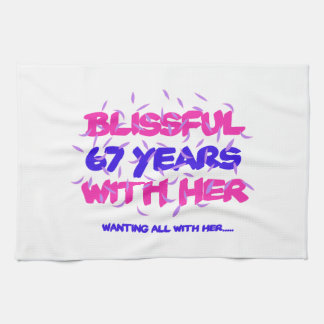 Trending 67TH marriage anniversary designs Kitchen Towel