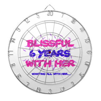 Trending 6th marriage anniversary designs dartboard
