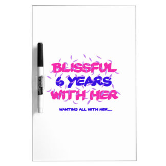 Trending 6th marriage anniversary designs dry erase board