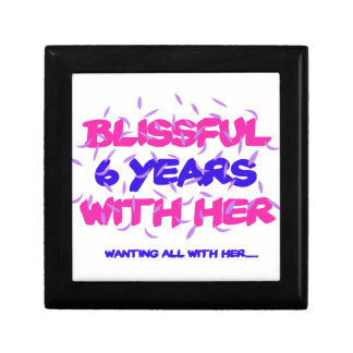 Trending 6th marriage anniversary designs gift box