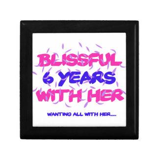 Trending 6th marriage anniversary designs keepsake box