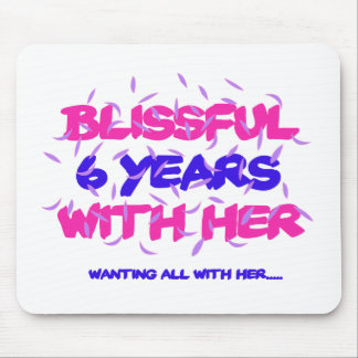Trending 6th marriage anniversary designs mouse pad